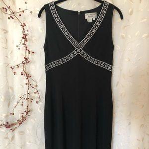 Papell Boutique Evening Black Dress - size 8